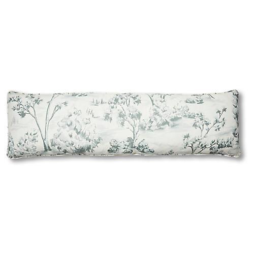 Lee 14x48 Lumbar Pillow, Powder Blue Linen