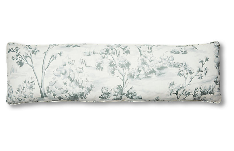 Lee 14x48 Lumbar Pillow, Powder Blue Linen