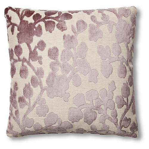 Olivia 19x19 Pillow, Amethyst Velvet
