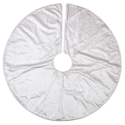 Madison Velvet Tree Skirt, Silver