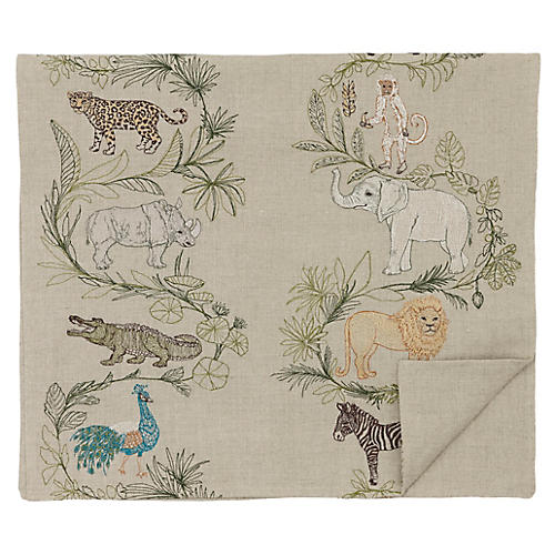 Safari Table Runner, Natural/Multi