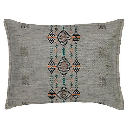 Berber Fog 12x16 Pillow, Gray Linen