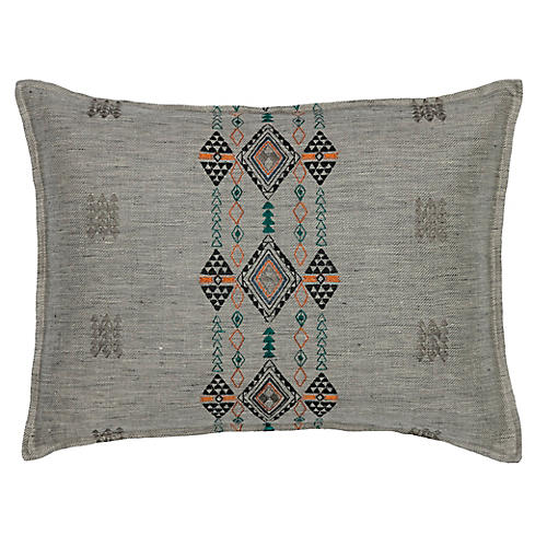 Berber Fog 12x16 Pillow, Gray Linen