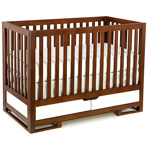 Owen Crib, Cocoa/White