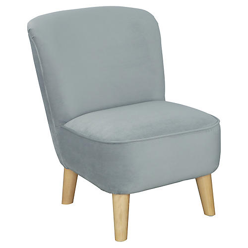 June Kids' Chair, Pebble Gray