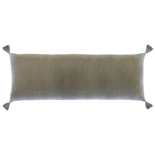 Bianca 14x40 Lumbar Pillow, Sage Velvet