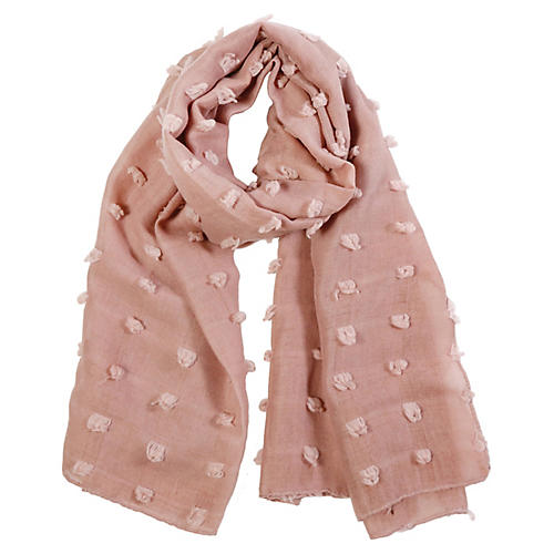 Poppy Polyester Scarf, Rose