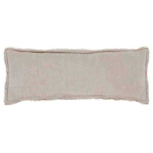 Laurel 14x40 Pillow, Pale Olive Linen