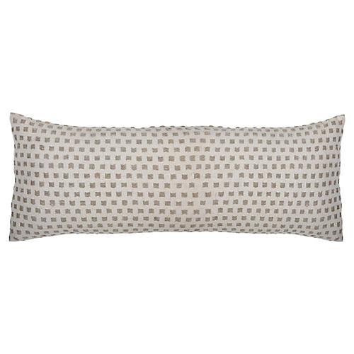 Decker 14x40 Lumbar Pillow, Ivory/Natural Linen