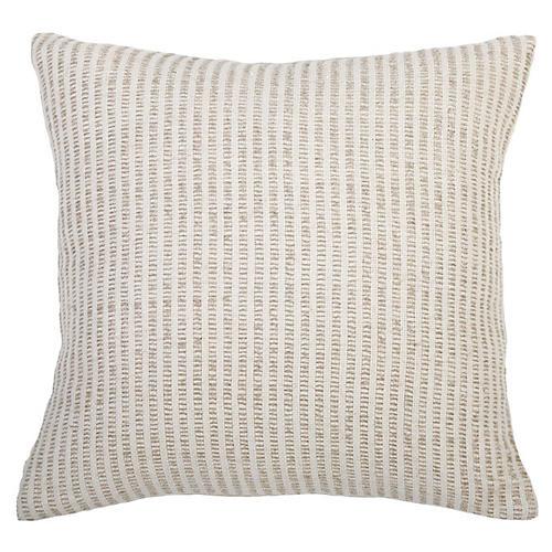 Casey 20x20 Pillow, Ivory/Natural Linen