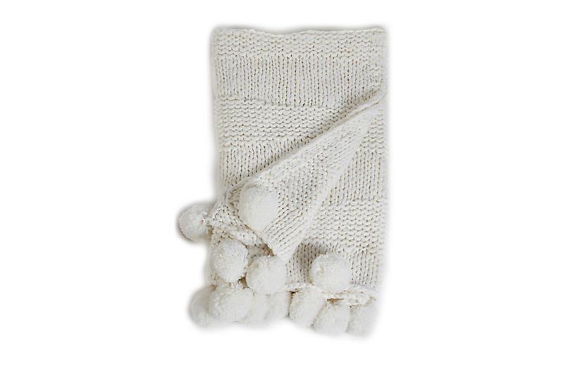 Oulu Throw, Winter White