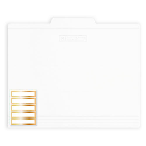 S/12 File Folders, White