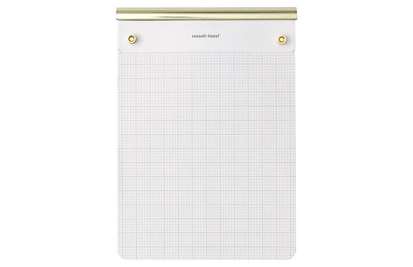 Drafter's Tablet, White/Gold
