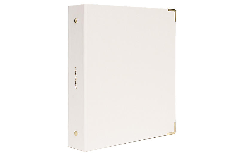 Mini Three-Ring Binder, Pearl
