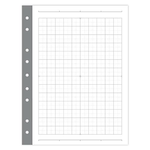Mini Smartgrid Filler Paper, White/Gray