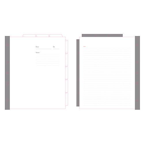 Signature 8-Tab Index Dividers, White/Gray