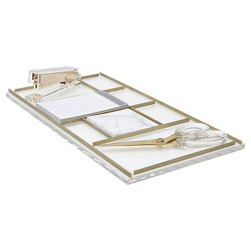 Desk Tray Bundle, Clear