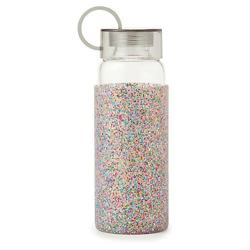 Glitter Water Bottle, Clear/Multi