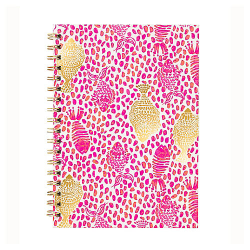 Heart & Soul Notebook, Pink/Gold