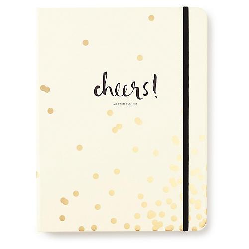 Confetti Dot Party Planning Book, Cream/Gold