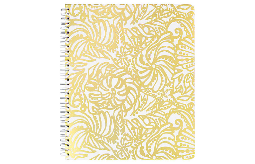 Beach Haven Notebook, Gold/White