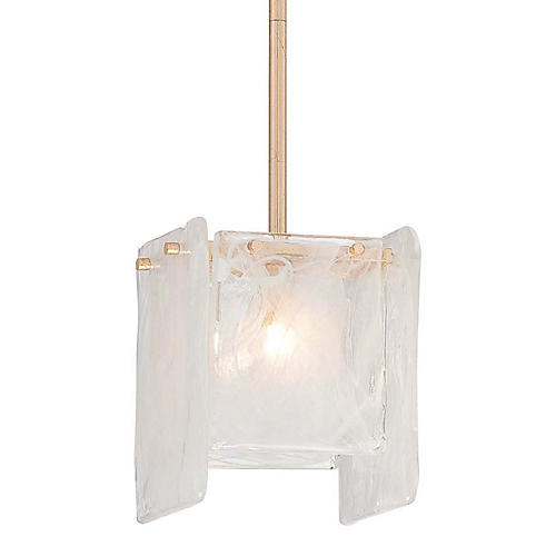Artic Frost 1-Light Pendant, French Gold