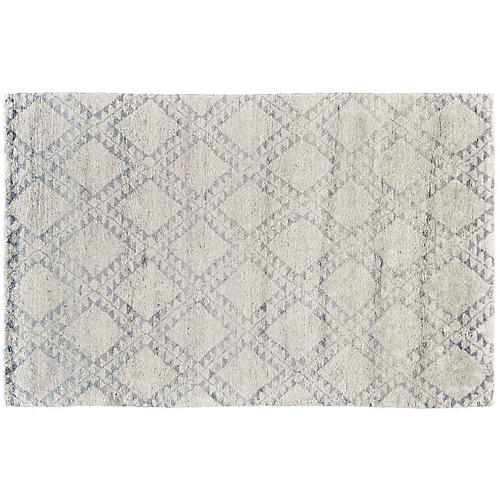 Stella Hand-Knotted Rug, Ice