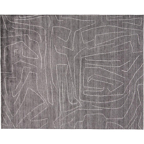 Cenric Hand-Loomed Rug, Charcoal