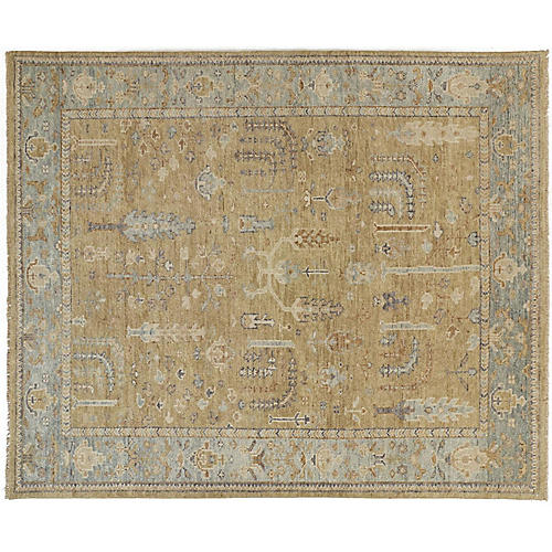Savva Rug, Gold/Light Blue