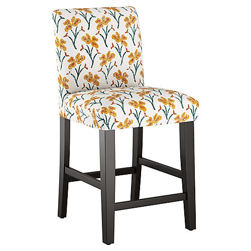 Shannon Counter Stool, Marigold Floral