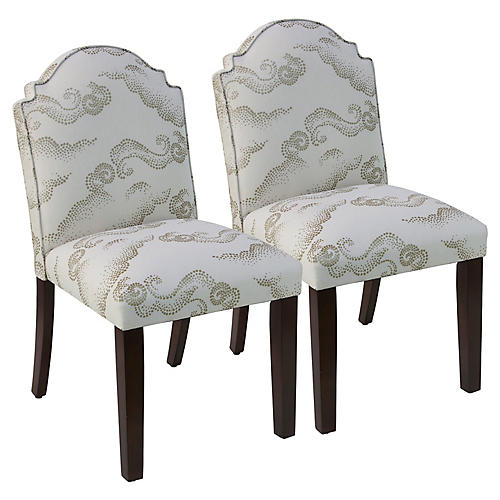 S/2 Elloree Dining Chair Sets, Clouds