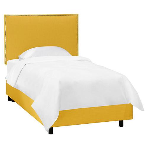 Loren Kids' Bed, Mustard Linen
