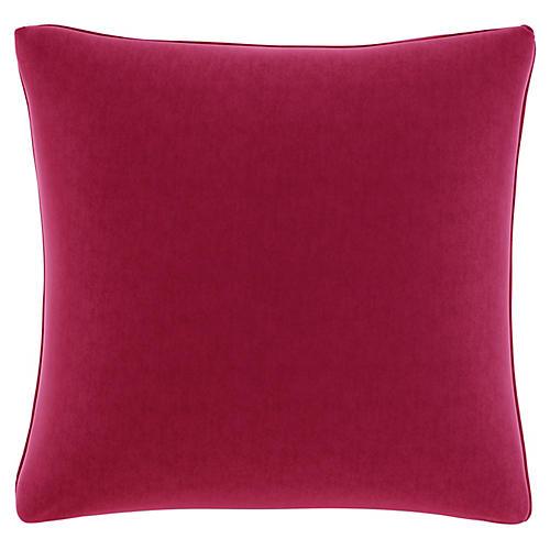 Zett 20x20 Pillow, Fuchsia Velvet