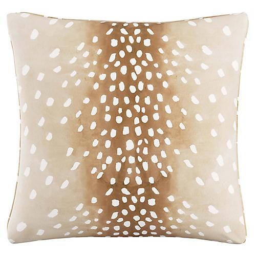 Fawn 20x20 Pillow, Natural Linen