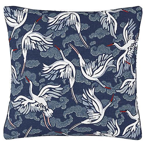 Olmstead 20x20 Pillow, Navy Linen