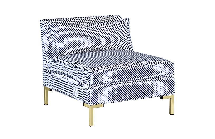 Marceau Slipper Chair, Dot