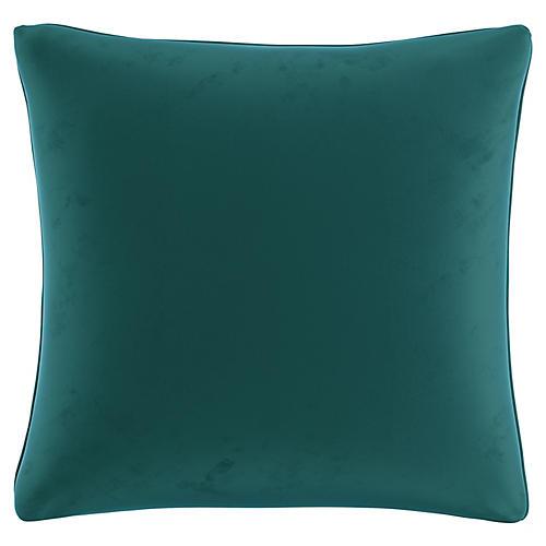 Zett 20x20 Pillow, Peacock Velvet