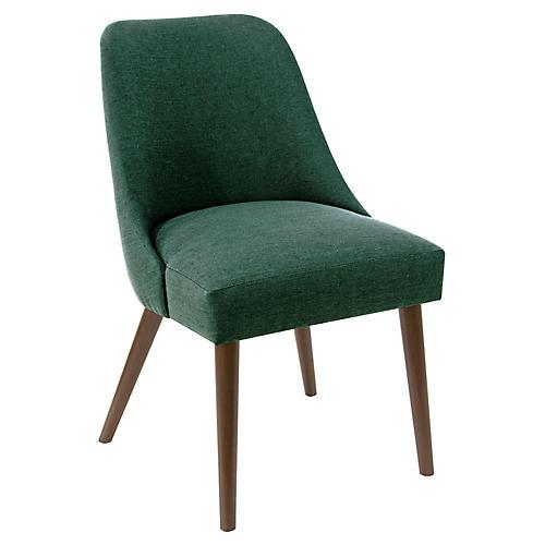 Barron Side Chair, Forest Linen