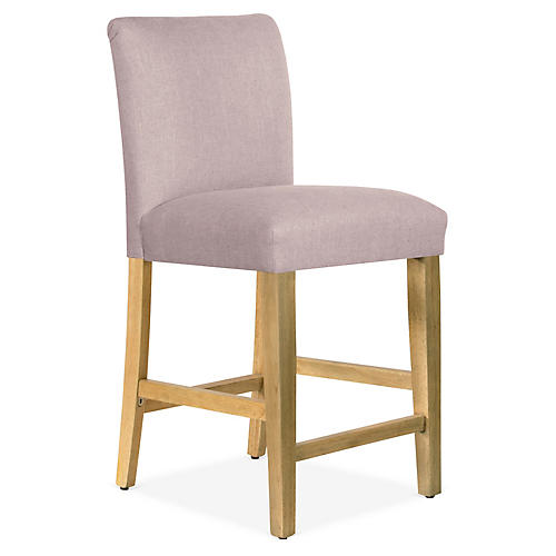 Shannon Counter Stool, Lilac Linen