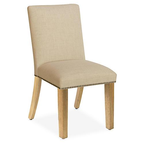 Kean Side Chair, Sand Linen