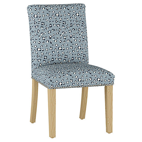 Kean Side Chair, Dusty Blue/Multi