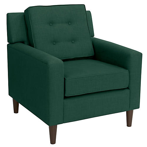 Winston Club Chair, Forest Linen