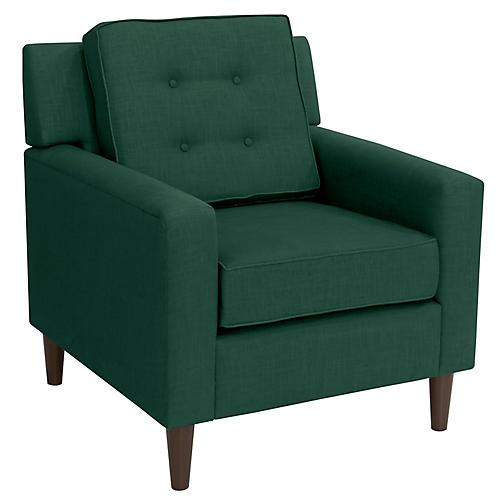 Winston Club Chair, Forest Linen