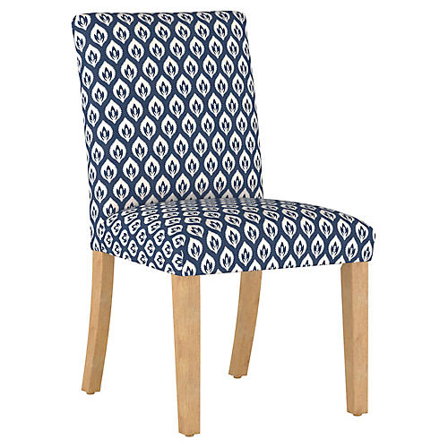 Shannon Side Chair, Navy Floral