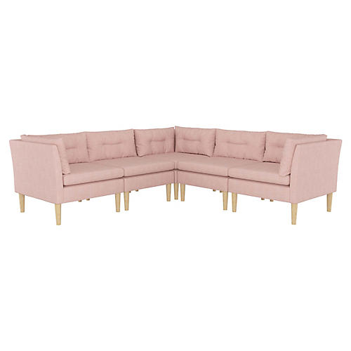 Madeline L-Shaped Sectional, Blush