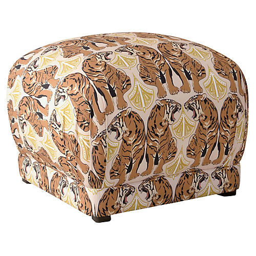Pleasant Ottomans Poufs Stools One Kings Lane Theyellowbook Wood Chair Design Ideas Theyellowbookinfo