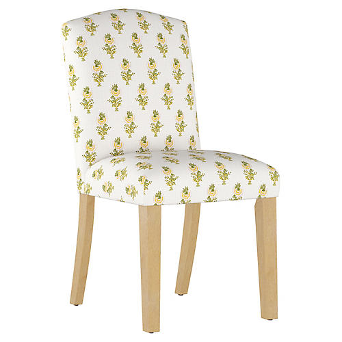 Desert Flower Side Chair, Spring Green