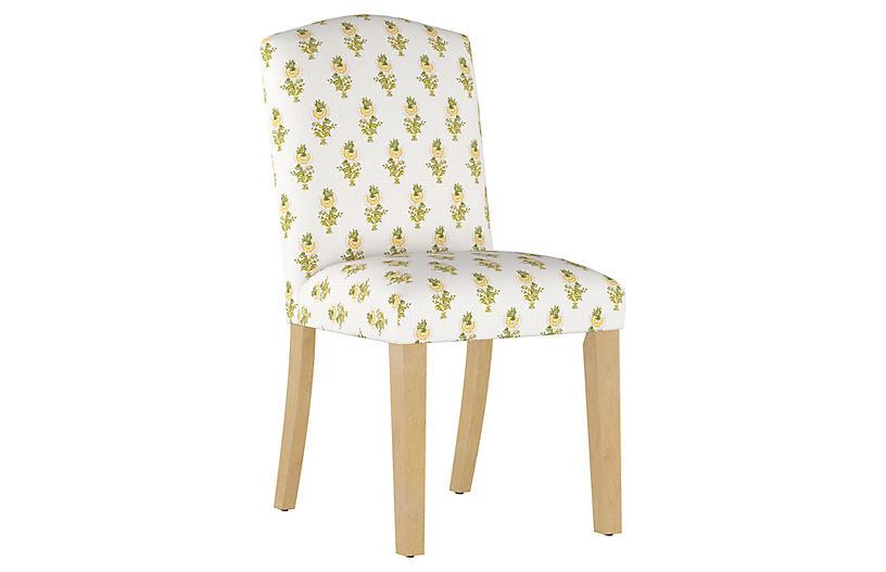 Desert Flower Side Chair, Spring Green