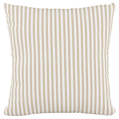Further 20x20 Pillow, Natural Stripe
