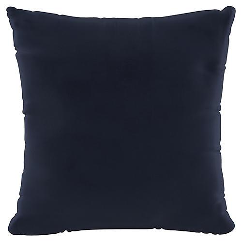 Vero 20x20 Pillow, Navy Velvet